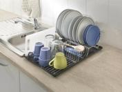 Metaltex 325426039 Wingtex Dish Rack with Drip Tray Silver