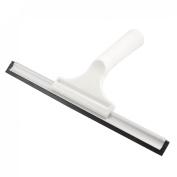 White Nonslip Handle 26cm Rubber Blade Window Glass Squeegee Shaver
