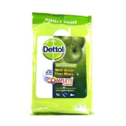 Dettol 4in1 Floor Wipes Green Apple 15s 250g