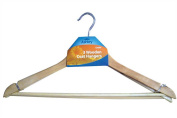 3 Wooden Coat / Clothes Hangers