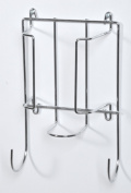 Door or Wall Mounted Iron and Ironing Board Holder Polished Chrome Finish