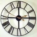 Large Skeleton Frame Wall Clock With Roman Numerals 60cm Diameter