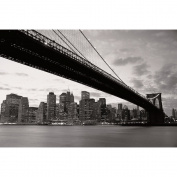 1Wall New York Brooklyn Bridge At Night Stunning Black And White Wallpaper Wall Mural