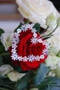 Vintage Heart Daisy Decoration