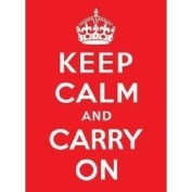 Keep Calm And Carry On Metal Sign - Approx 16 x 12 Inches