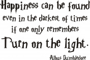 Harry Potter happiness vinyl wall quote sticker.Albus Dumbledore. Any colour. 120x60CM