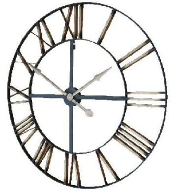 Extra Large Skeleton Frame Wall Clock With Roman Numerals 90cm Diameter