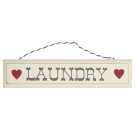 Rustic Wooden Laundry Sign