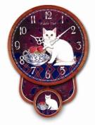 WALL CLOCK WHITE CAT CLOCK PENDULUM KITCHEN CLOCK - Tinas Collection - The different design
