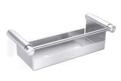 Bathroom shower basket in stainless steel