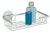 Wenko Turbo-Loc 18845100 Bathroom Rack for No-Drill Wall Fixation 13x7x5 cm Ultra Light Matted Rust-Proof Aluminium
