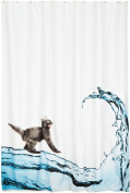 Cat Polyester Anti Mould Shower Curtain 180 x 200cm