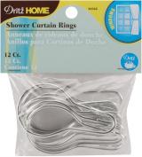 Shower Curtain Rings 5.1cm - 1.9cm x 3.8cm 12/Pkg-