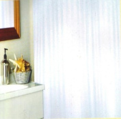 Shower Curtain With Hooks - Satin Stripe - White