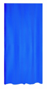 Spirella Twill Plastic Shower Curtain PVC 180 cm x 200 cm, Electric Blue