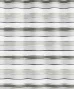 Kleine Wolke Stripes 5143120305 Shower Curtain 180 x 200 cm Grey Stripes