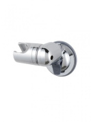 Adjustable Shower Head Holder with Suction Bracket in CHROME - No Drilling Required!