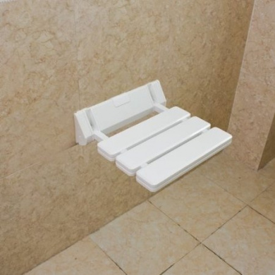 Wall Mounted Drop Leaf Stool Foldable Shower Seating