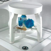 Great Ideas Rotating / Revolving / Turning / Twisting Shower Stool With Swivel Seat - Turns 360 Degrees For Showering While Seated