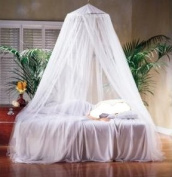 Direct-Home® White Mosquito Net Bed Canopy Polyester 10 Metre x 2.5 Metre Insect Protection