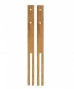 2 Hardwood headboard legs - slotted & pre-drilled