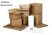 1 Bed Moving Kit -Includes Cardboard Boxes, Bubble Wrap, Refuse sacks and Tape