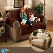 Quilted Water Resistant Furniture Protector/Cover, Beige, Chair
