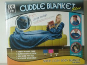 Comfy Cuddle Blanket Plus - PINK - Extra Cosy Fleece Body Blanket with Sleeves