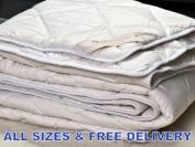 NATURAL Junior Merino Wool Duvet / Quilt 120x150cm 4-8 TOG + PILLOW 45x75cm