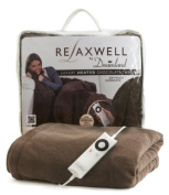 Relaxwell by Dreamland 16082 Luxury Heated Throw with Intelliheat, Chocolate