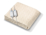 Beurer Monogram Tranquilly Fully Fitted Fleecy King Size Heated Underblanket and Mattress Cover with Dual Controllers