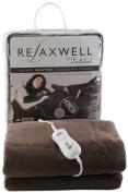 Dreamland Relaxwell Luxury Personal Size Micro Fleece Heated Throw, Chocolate