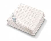 Monogram Luxurious Premium Heated Single Mattress Cover with Two Heat Zones