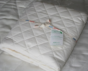 Homescapes - Organic - 300 Thread Count - Super King - Luxury Quilted Deep Fitted Mattress Protector - 100% Egyptian Cotton 200 gsm - Anti Dust mite and Anti Allergen - Superior Percale - Excellent for Summers.