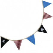 Powell Craft Handmade Pirate Bunting - Perfect for a Pirate themed Nursery Babies Room or Childrens Room Play Room or great for a pirate party!