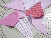 Powell Craft Handmade Pink Bunting - Perfect for Nursery / Babies Room / Play Room