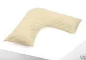 Matching Bedrooms Luxury Polycotton Percale V-Shape Pillowcase Cream