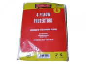 4 PACK OF PILLOW PROTECTOR COVERS - MACHINE WASHABLE POLYPROPYLENE FABRIC MATERIAL