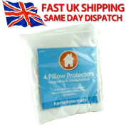 4 Pillow Protectors - Stain Resistant