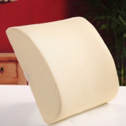 THG New Memory Foam Seat Chair Beige Lumbar Back Pain Support Cushion Pillow Pad For Car Sedan Office Home