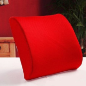 THG New Memory Foam Seat Chair Red Lumbar Back Pain Support Cushion Pillow Pad For Car Sedan Office Home