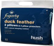 Hush Value Range Duck Feather Pillow Pair With Protectors