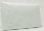 Natural Latex Pillow 100% Cotton Cushion Bed 12 cm Hypoallergenic Anti Mite Bactericidal Breathable - by Neoplano