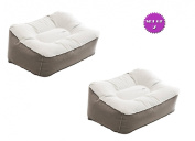 Inflatable Travel Footrests - Compact packaging easy to travel with Reduce Stress Increase Circulation - Set of 2