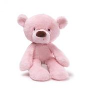 GUND 35.5cm Lil Fuzzy Pink Bear Soft Toy for Newborn
