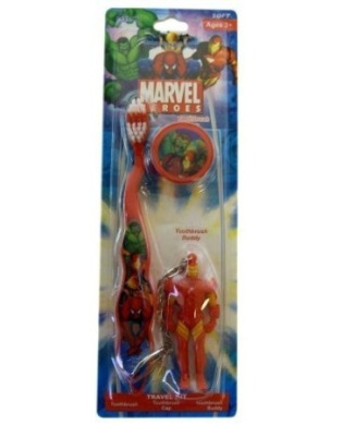 Spiderman Toothbrush - Marvel Spiderman Travel Toothbrush With Mini Figurine And Cap