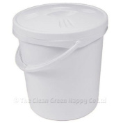 Junior Joy nappy pail and lid - white
