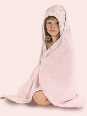 Bethany Estate Hooded Baby Towel by Bearington Baby.