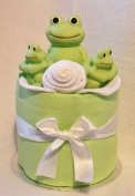 UNisex Mini Nappy Cake new Baby Gift - Bath time Frog Toy .