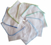 10 x Super Soft Flannel Wipes - Washing cloths 25/25 - BOY